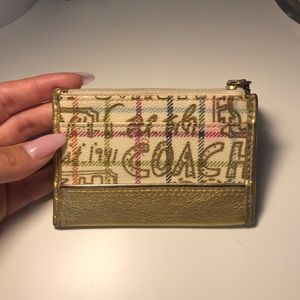 Coach card and change holder